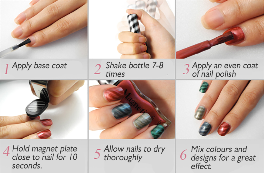How To Apply Konad Magnetic Polish Official Konad Nail Art Products